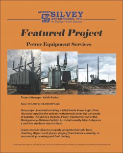 Power Equipment Services, Silvey Featured Project