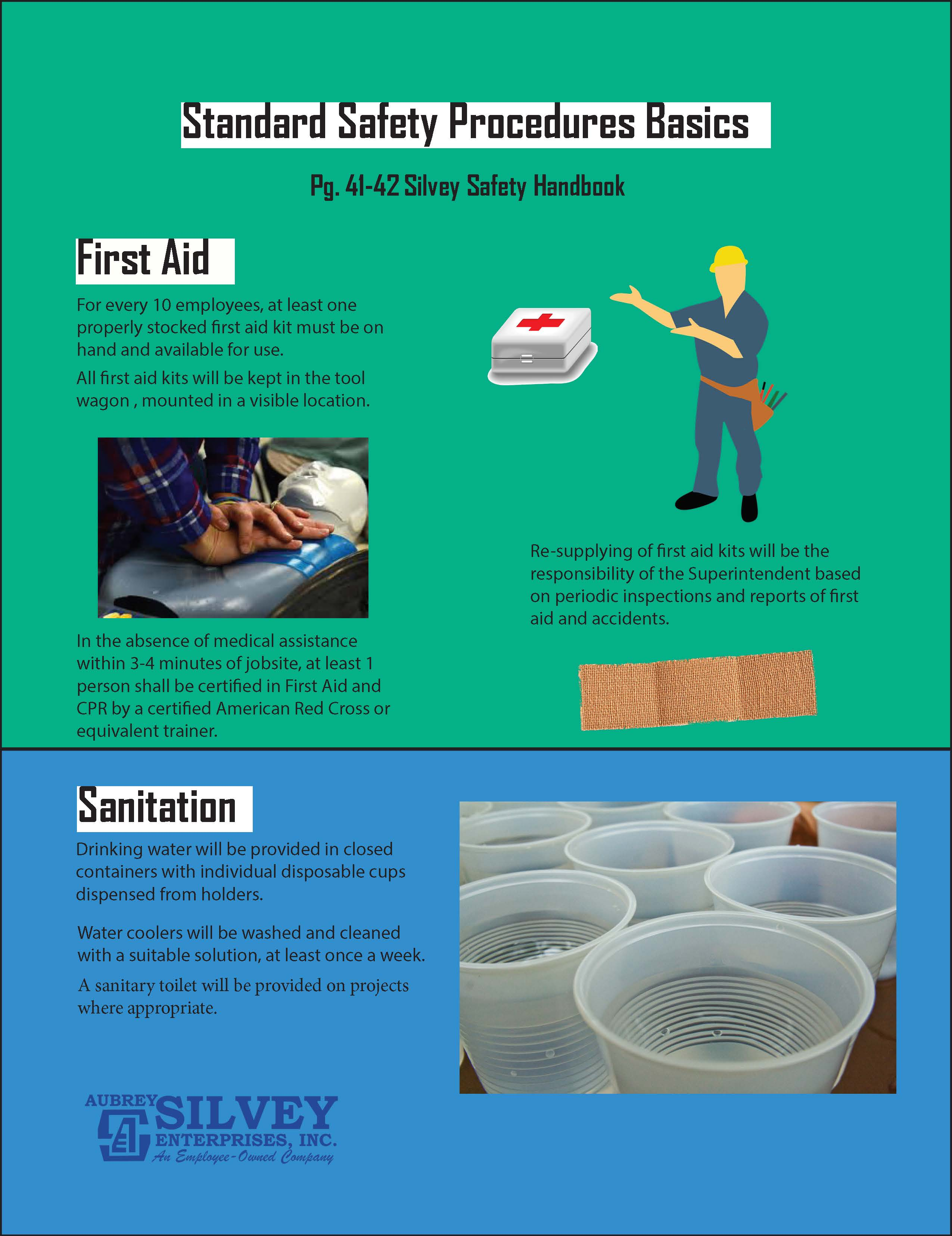 Posted in Industry Topics Tagged first aid,housekeeping,manual,materials, safety,sanitation,silvey,storage